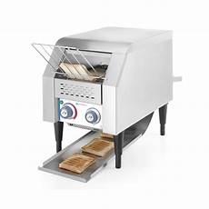 tostapane professionale tostapane a nastro singolo hendi in acciaio inox 378246