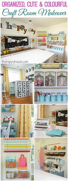 craft room makeover reveal the happy housie