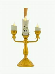 new disney parks and the beast lumiere candlestick light up ornament ebay