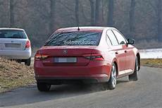 2020 Skoda Superb Facelift Spied Looks Ready To Borrow