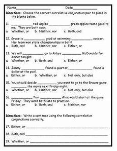 correlative conjunctions activity pack common core aligned by kathryn willis
