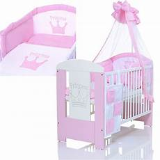babybetten komplett baby kinderbett prinzessin 120x60 holz bettw 228 sche komplett