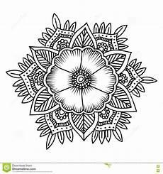 mandala flower doodle vector illustration coloring pages