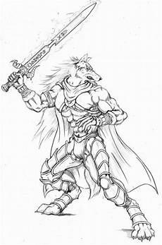 wolf warrior with sword by wolflsi on deviantart