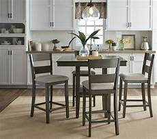 loft weathered grey 5 piece counter height dining room from standard furniture coleman