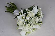 the flower magician a simply elegant all white wedding bouquet