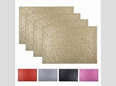 Set Of 4 Glitter Place Mats Protective Dinner Dining Table