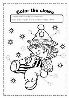 color the clown esl worksheet by yorlejq