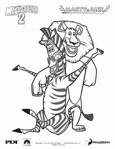 madagascar animals coloring pages 17085 madagascar 2 marty and alex coloring page coloring character coloring pages
