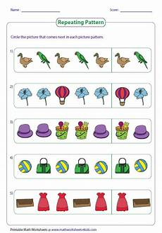 patterns worksheets for toddlers 261 pattern worksheets