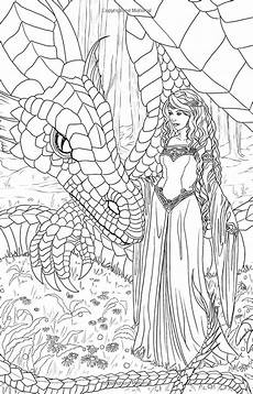 coloring pages dragons and fairies 16609 magic minis pocket sized coloring book vol 5 by selina fenech