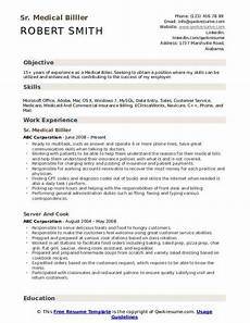 medical biller resume sles qwikresume