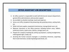 Kitchen Clerk Description by Office Assistant Resume Sle Pdf