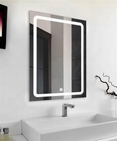 led spiegel touch sensor wow badspiegel profi led licht spiegel 50x70cm touch