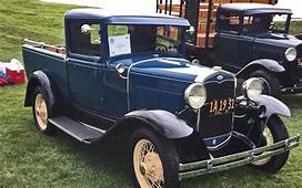 1931 Ford Model A Delux Closed Cab Pickup Truck  1930