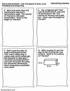 volume word problems worksheets with answers 11170 volume word problems freebie by growing grade by grade tpt