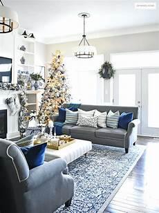 Blue Gray White Living Room