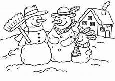 Schule Und Familie Ausmalbilder Winter Kostenlose Malvorlage Schneem 228 Nner Schneemann Familie