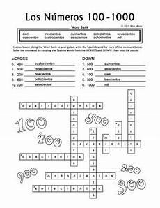 los numeros spanish numbers puzzle bundle 1 1000