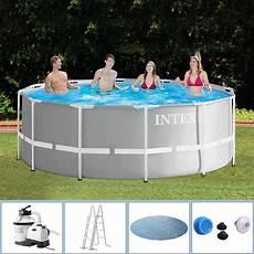 intex swimming pool frame 366x122 cm mit sandfilter