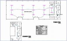 electrical installation floor plan of community center dwg