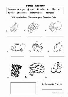fruit phonics worksheet free esl printable worksheets