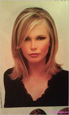 Medium Length Hairstyles With Side Swept Bangs medium length haircuts with side swept bangs and layers