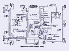 1940 Chevrolet Passenger Electrical Wiring Diagram