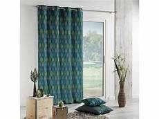 rideau forme geometrique rideau imprim 233 quot feuilles stylis 233 es quot 233 e 30 140 x 260 cm 1607387 bleu vente de rideau