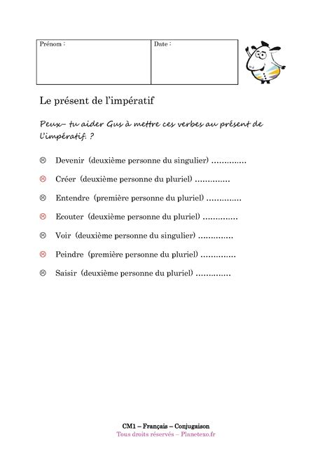 Imperatif Francais