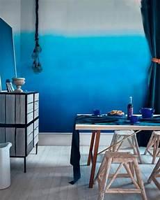 Farbverlauf Wand Streichen - tie dye walls