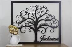 Personalized Metal Family Tree Custom Cut From 16
