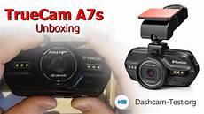truecam a7s dashcam unboxing truecam a7s dashcam autokamera hd