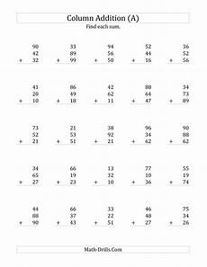 2nd grade math worksheet adding two digit numbers adding three two digit numbers a 2nd grade addition