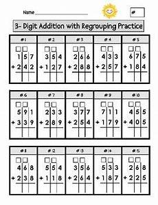 addition box worksheets 8793 digit addition with regrouping worksheets the box dr who and columns