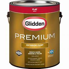 glidden premium 1 gal flat base 1 white exterior latex paint gl6111 01 the home depot