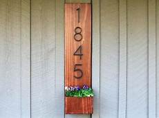 how to make a wall hanging planter box with house numbers
