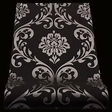 Vlies Tapete Barock Ornament Schwarz Metallic 13110 70