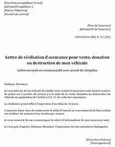 resiliation assurance auto vente lettre de resiliation assurance auto suite vente modele