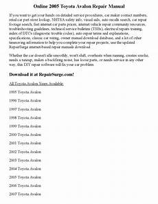 free download parts manuals 1995 toyota avalon regenerative braking 2005 toyota avalon repair manual online by ansley issuu