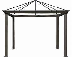 Pavillon 4x4 Meter - pavillongestell figaro 4x3x2 8 m aluminium braun bei