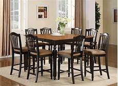 9pc square counter height dining room table w 8 microfiber stools black cherry ebay