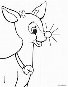 printable rudolph coloring pages for