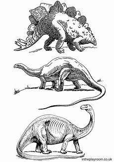 dinosaur colouring pages in the playroom