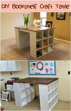 diy bookshelf craft table craft tables with storage