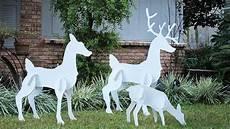 Reindeer Decorations Outdoor by Reindeer Outdoor Yard Displays Wikii
