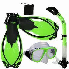 snorkeling dive gear mask dry snorkel fins bag package sets ebay
