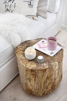 Nachttisch Baumstamm Rustikal Dekor Einfache Diy Und