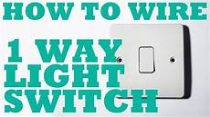 1 way light switch how to install and wire youtube