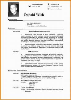 resume template english word 5 cv sle in english theorynpractice